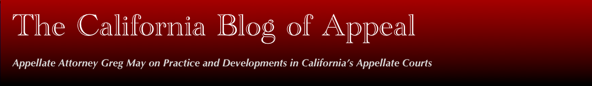 The California Blog of Appeal