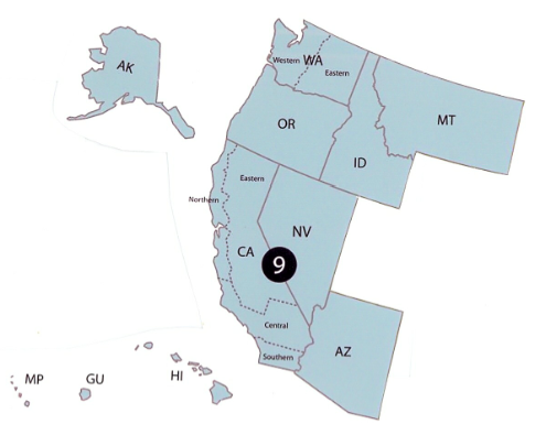 Announcements The California Blog Of Appeal - Us federal circuit map